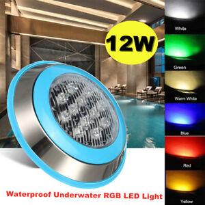 12v / 24v 12w RGB Underwater Light LED Swimming Pool Spa IP68 Waterproof   AU