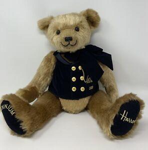 "Harrods Knightsbridge 2000 Millenium Jointed Teddy Bear Plush Stuffed Animal 17"""