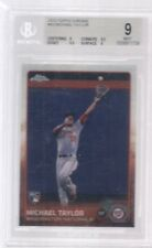 2015 TOPPS CHROME # 43 MICHAEL TAYLOR ROOKIE BGS 9