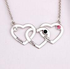 Halskette Herz mit Gravur bis zu drei Namen Familie Namenskette Wunschgravur