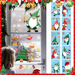Christmas Xmas Santa Removable Window Stickers Art Decal Wall Decor~