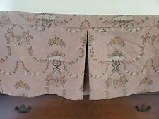 Custom Vintage Pink Floral King Bedskirt 14in Drop Length French Shabby Cottage