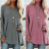 Women Tunic Ladies Tops Casual T-shirt Baggy Sleeve Pullover Long Loose Jumper