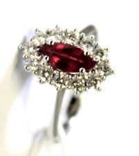 Anello oro bianco 18kt 750/°°° MIRCO VISCONTI con Diamanti e Rubino AM3/RF
