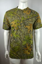 NEW Henley Hunting Camo tee Men's M T shirt S/S Mossy Oak Obsession NEW NWOT