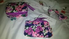 Vera Bradley Travel Pill Case,Coin Purse, & Lanyard in Flower Garden Pattern,NEW