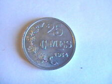 LUXEMBOURG 1954  Aluminum Coin - 25 Centimes - EF+ lustre - Letzeburg