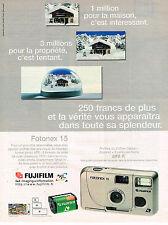 PUBLICITE ADVERTISING 045  1997  FUJI   appareil photo FOTONEX 15 FUJIFILM