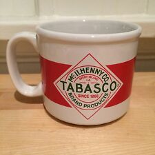 Tabasco Hot Sauce Logo Red and White Coffee / Soup Mug McIlhenny Advertising