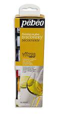 Pebeo Discovery Set Vitrea 160 permanent four cuisson verre peinture 6 x 20 ml Couleurs