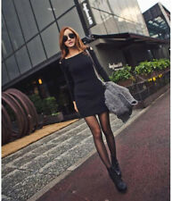 Women Winter Knitted Jumper Gray Sweater Tops Pullover Knitwear Long Tops Dress
