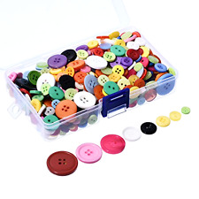 500 Buttons, Resin Sewing Buttons, Round Buttons, Assorted Craft Buttons