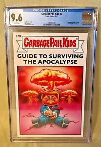 Topps Comics 2017 Garbage Pail Kids #3 Donald Trump Apocalypse Adam Bomb CGC 9.6