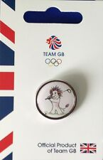 OFFICIAL TEAM GB PRIDE THE LION MASCOT PICTOGRAM BALL SPORTS PIN SET (4 PINS)