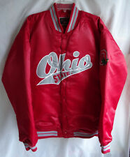Vintage Ohio State Buckeyes XL Red Satin Insulated Jacket Colosseum Varsity Coat