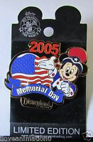 Disney DLR Memorial Day Mickey Mouse Pin