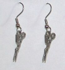 Needlework/Cross Stitch/Embroidery - Crane Scissors Ear Rings - Quilters Jewels