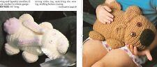 *Buckle-up Bear & Bunny crochet PATTERN INSTRUCTIONS