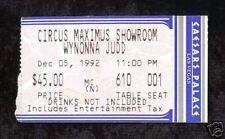 Wynonna Judd 1992 Concert Ticket stub! Caesars Palace