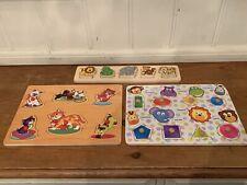 Job Lot Of Three Children's Wooden Animal Jigsaw Puzzles 3D.