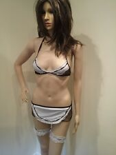 02a3cf07a Adult Sexy Women French Maid Costume Outfit Fancy Party Dress 8-10 cds0069