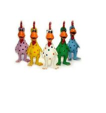 Globkens Latex Chicken for Dog Toy -  Each - 11.5 in - Assorted Colors - squeak