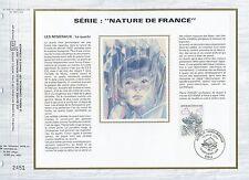 FEUILLET CEF / DOCUMENT PHILATELIQUE / NATURE DE FRANCE QUARTZ 1986 PARIS