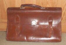 Vintage Brown Leather Satchel  Doctors Messanger Laptop Storage Bag Briefcase
