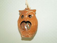Eule Hilda Windlicht Teelichthalter Handarbeit getöpfert Keramik