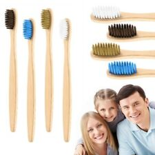 1PC New Natural Charcoal Wooden Bamboo Soft Bristle Toothbrush Adult Oral Care