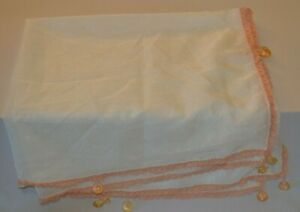 Hand Crochet sheer fabric Food Cover with Glass bead weights.