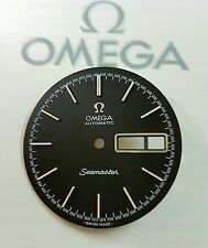 dial o esfera omega seamaster negro ,calibre 1022,nueva de stock restaurada.