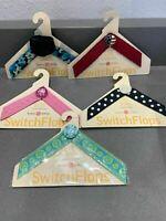 Lindsay Phillips Set of (5)Kids Size Medium Switch Flops Interchangeable Straps
