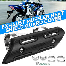 Motorcycle ATV Exhaust Muffler Link Pipe Heat Shield Tube Protector Gua W