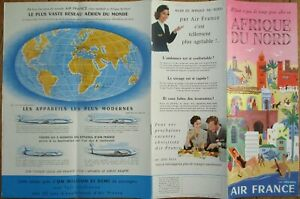 Air France 1954 Travel Brochure: Afrique du Nord / North Africa