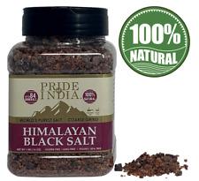 Pride Of India - Himalayan Black Salt - Coarse Grind, 1 Pound (16oz) Jar - Kala