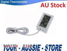 White LCD Digital Thermometer for Fridge Freezer Aquarium FISH TANK Temperature