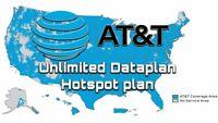 AT&T Unlimited Data 4G LTE ATT NO THROTTLING $80 per Month Rental