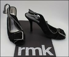 RMK WOMEN'S HIGH HEELS SLINGBACK OPEN TOE FASHION SUEDE SHOES SIZE 7