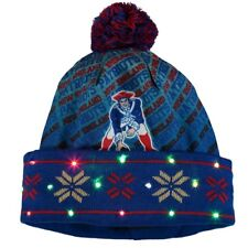 Brand  Forever Collectibles. New England Patriots RETRO LOGO Light Up  Beanie NFL Winter Cap Hat ef8f668bf