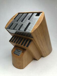 Chicago Cutlery 17 Slot Wood Knife Block Great Condition