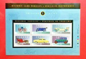 "Canada Stamp #1490 ""Historic Land Vehicles - 1"" Souvenir Sheet 1993"