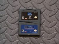 Lot Nintendo Game Boy Advance GBA Games Kong: The 8th Wonder of the World + 1