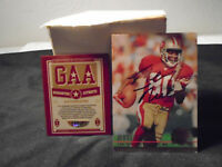 JERRY RICE SIGNED FOOTBALL CARD AUTOGRAPH GAA AUTHENTICATED