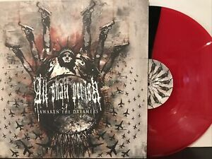 All Shall Perish – Awaken The Dreamers LP 2008 Pure Noise PNE 105 EX/EX Red/Blk
