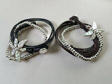 Beaded Dragonfly Wrap Bracelet Uno De 50 Style handmade choice of 3 colors
