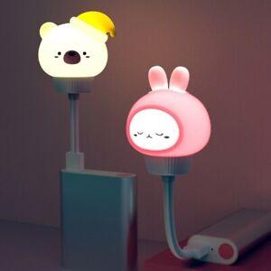 Animal Cartoon Shaped LED Lamp USB Baby Children Bedside Sleeping Night Light