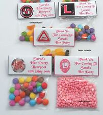 20 Personalised Hen Night Sweet Bag WRAPPERS  Favours, Posted 1st Class