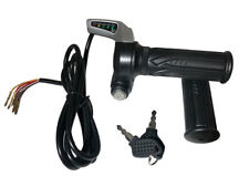 eBike / Electric Scooter Throttle w/ Key Switch & Battery Level 24V - US SELLER