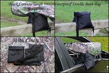 Waterproof Double UNFILLED Black Camera Bean Bag Cordura 500D & Shoulder-Strap
